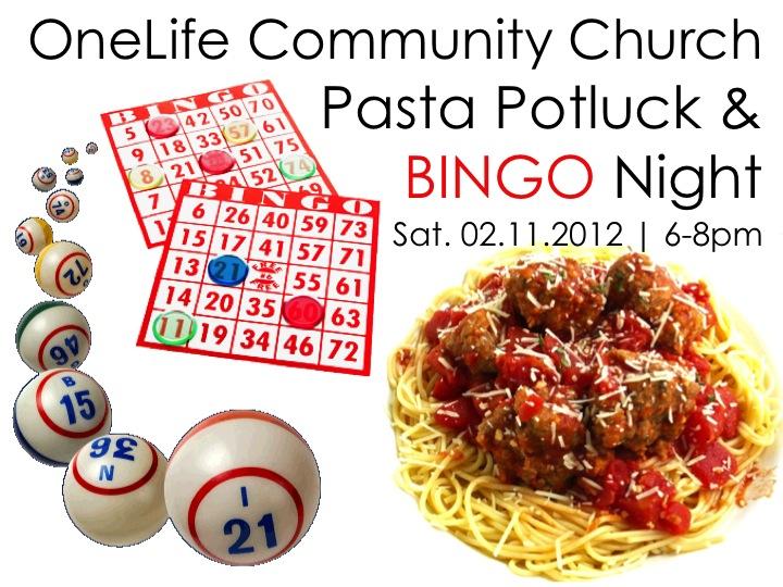 Pasta Potluck & BingoGoodness!